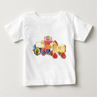 Amis en bois t-shirt pour bébé
