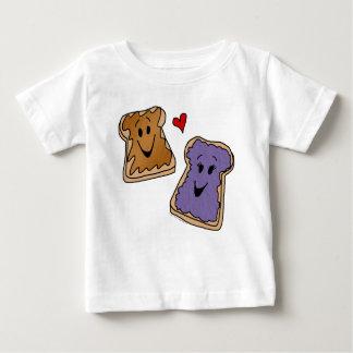 Amis gais de bande dessinée de beurre et de gelée t-shirt pour bébé
