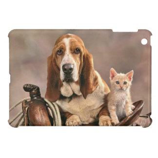 Amis occidentaux chien et chat de selle coques pour iPad mini