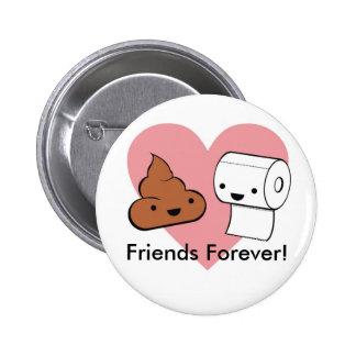 amis pour toujours amis pour toujours badge avec épingle