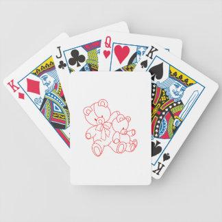 Amis Redwork d'ours Jeux De Cartes Poker