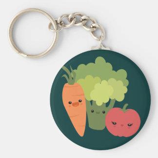 Amis végétariens porte-clé rond