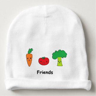Amis végétaux heureux bonnet de bébé