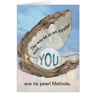 Amitié, amour, merci, vous êtes la carte de perle