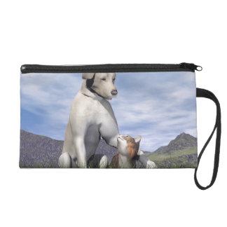 Amitié de chien et de chat sac à main avec dragonne