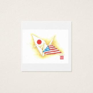 Amitié Japon-États-Unis de ~ carré de cartes de