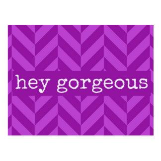 """Amitié ou """"hé"""" carte postale magnifique Flirty"""
