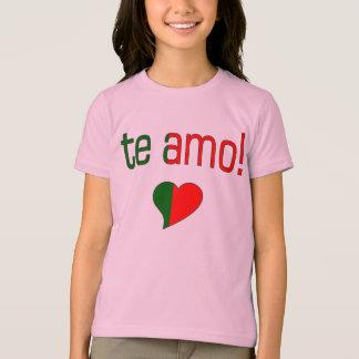 AMO de Te ! Couleurs de drapeau du Portugal T-shirts