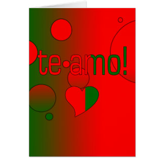 AMO de Te Le drapeau du Portugal colore l art de Carte De Vœux
