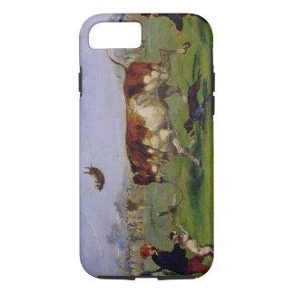 Amorce de Taureau (huile sur le papier étendu sur Coque iPhone 8/7