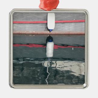 Amortisseurs de bateau accrochant sur le conseil ornement carré argenté