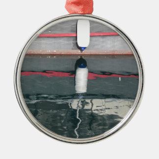 Amortisseurs de bateau accrochant sur le conseil ornement rond argenté