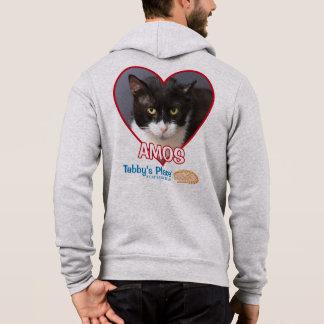 AMOs - Plein sweat - shirt à capuche de fermeture