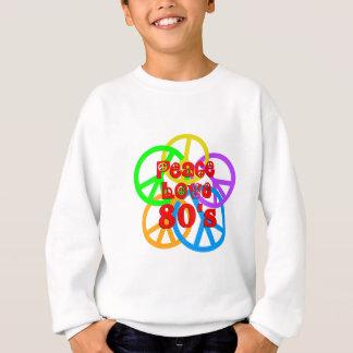 Amour 80s de paix sweatshirt