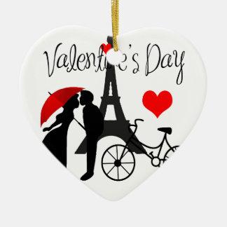 Amour à Paris Ornement Cœur En Céramique