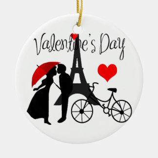Amour à Paris Ornement Rond En Céramique