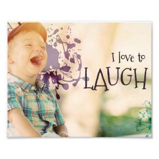 Amour à rire par des téléchargements inspirés impression photo