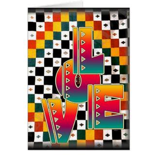 Amour africain cartes de vœux