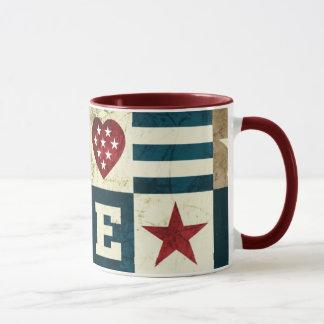 Amour Amérique patriotique Tasse