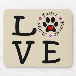 Amour animal Mousepad de délivrance Tapis De Souris