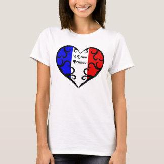 Amour assez français France du coeur | I T-shirt