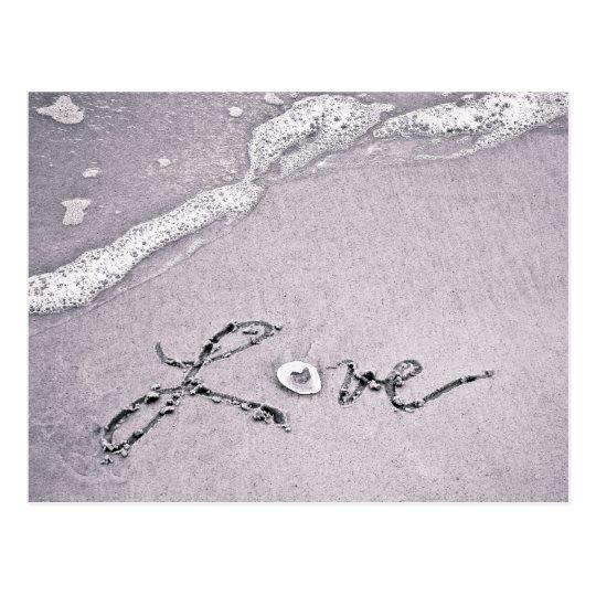 Amour au bord de l'eau carte postale