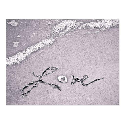 Amour au bord de l'eau cartes postales