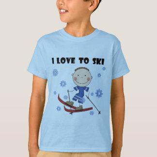 Amour au ski - T-shirts et cadeaux de garçon