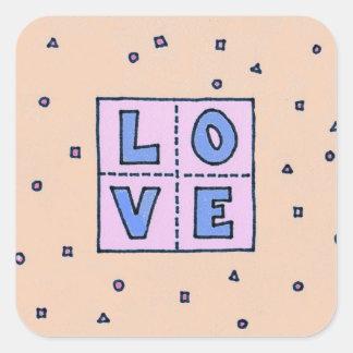 Amour-Autocollants de fabrication domestique