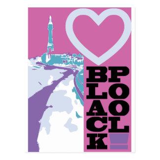 Amour Blackpool Carte Postale