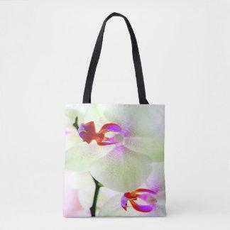 Amour blanc d'orchidée sac