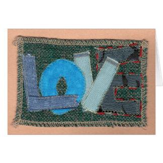 Amour bleu carte de vœux