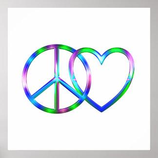 Amour brillant de paix poster