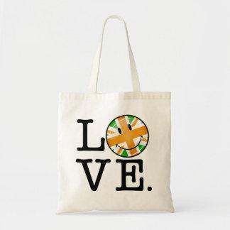 Amour britannique irlandais de drapeau sacs
