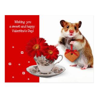 Amour. Carte postale de Saint-Valentin d'amusement