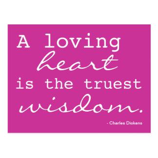 Amour, coeur, sagesse - carte postale inspirée