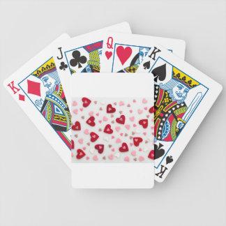 amour, coeurs jeu de cartes