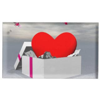 Amour comme cadeau - 3D rendent Porte-carte De Table