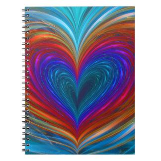 Amour complètement de carnet de couleur