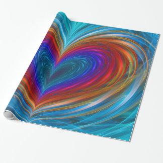 Amour complètement de papier d'emballage de papier cadeau