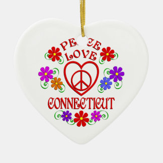 Amour Conecticut de paix Ornement Cœur En Céramique