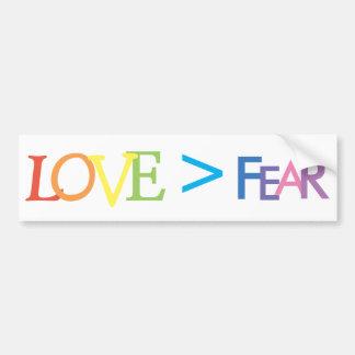 Amour > crainte autocollant pour voiture