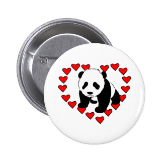 Amour d ours panda badge