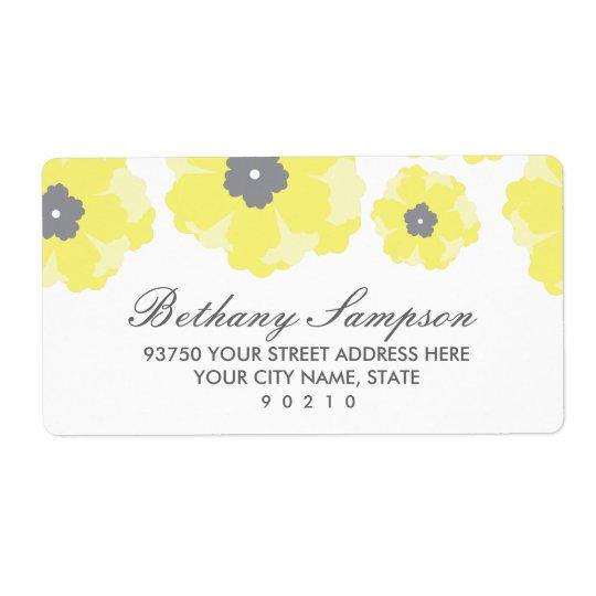 Amour dans des étiquettes de adresse de fleur