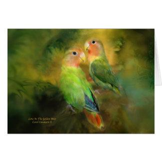 Amour dans la brume d'or ArtCard Carte De Vœux