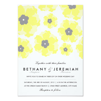 Amour dans le faire-part de mariage de fleur carton d'invitation  12,7 cm x 17,78 cm