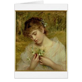 Amour dans une brume (huile sur la toile) carte de vœux