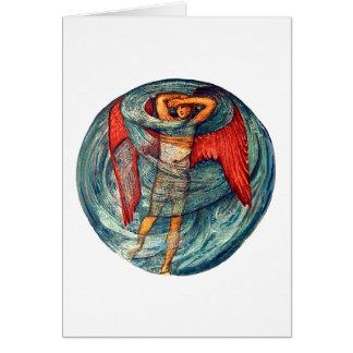 Amour dans une brume par Burne-Jones Carte De Vœux