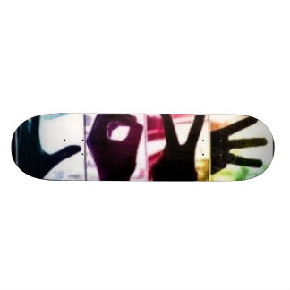 Amour d'arc-en-ciel plateaux de skate