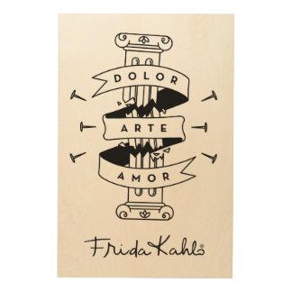Amour d'art de douleur de Frida Kahlo | Décoration Murale Sur Bois
